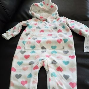 Carters footless fleece romper